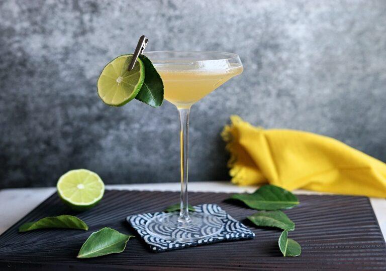 Shochu Cocktail Recipe: Kaffir Kokuto Gimlet
