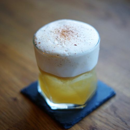Coffee and shochu cocktail